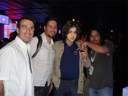 Da esquerda para a direita, Théo Azevedo, Fabio Santana, Gustavo Hitzschky e Nelson Alves Jr.