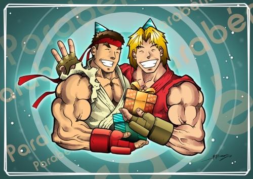 Ryu e Ken - Aniversário